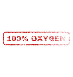 100 percent oxygen rubber stamp vector image