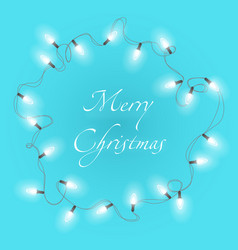 christmas background with bright realistic vector image