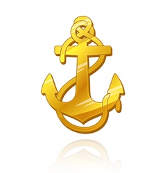 Gold Anchor vector image