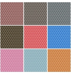 Seamless polygonal backgrounds vector image