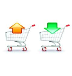 shopping carts vector image vector image