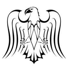 Silhouette of eagle tattoo vector image