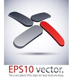 3D modern X logo icon vector
