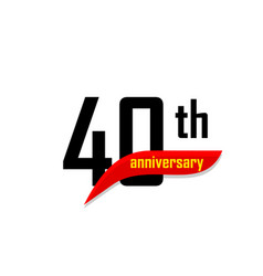 40th anniversary abstract logo forty happy vector image