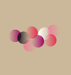 abstract pink round geometry shapes pattern vector image