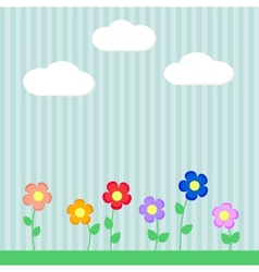 Background with flowers for scrapbook vector