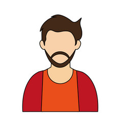 Bearded man icon image vector
