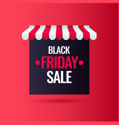 black friday big sales trendy modern poster to vector image
