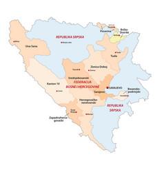 bosnia and herzegovina administrative vector image