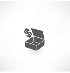 box with dollar icon vector image