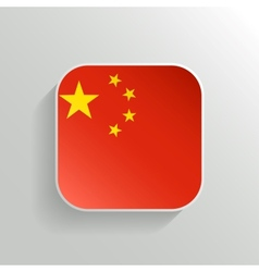 Button - China Flag Icon vector image