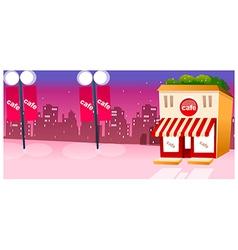 Cafe Exterior city skyline vector