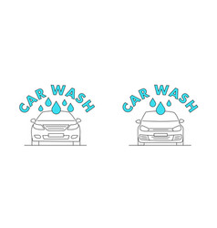 car wash line icon or logo for web mobile and vector image