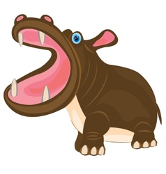 Cartoon animal hippopotamus vector