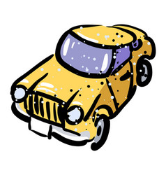 cartoon image of car icon automobile symbol vector image