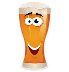 cartoon lager beer character vector image