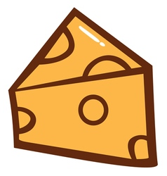 Cheese Cartoon vector image