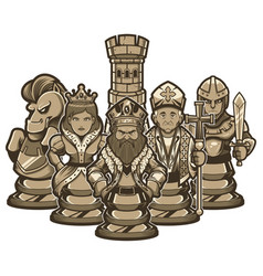 Chess team white vector