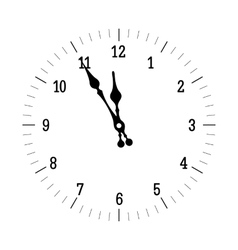 Christmas Old Clock vector image