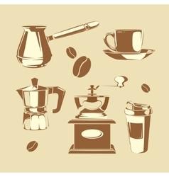 Coffee making equipment vector