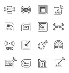 collection of simple radio frequency vector image