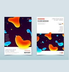 corporate business flyer design with liquids vector image