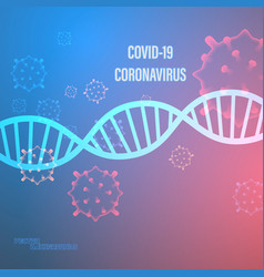 Covid19 corona virus on cell vector