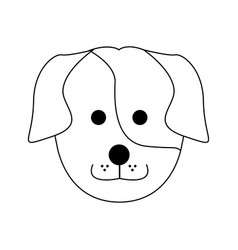 Cute dog cartoon icon image vector