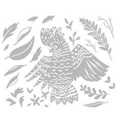 Decorative australian cockatoo bird in vector