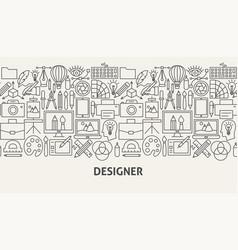 designer banner concept vector image