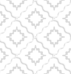 Diagonal white wavy squares pattern vector