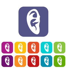 Ear icons set vector