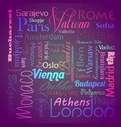 European capital cities eps10 vector