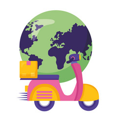 fast delivery business vector image