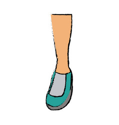 Feet sneaker sport shoe design icon vector