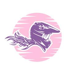 female motocross design vector image