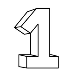 figure number one icon vector image