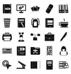 file icons set simple style vector image vector image