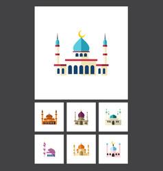 flat icon mosque set of religion islam muslim vector image