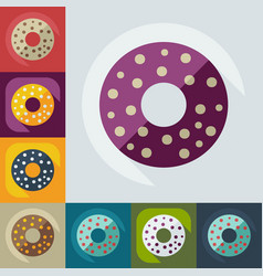 Flat modern design with shadow icons donut vector