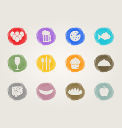 food deli icons vector image