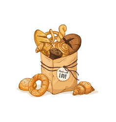 fresh bread isolated vector image