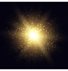 Golden star explosion vector