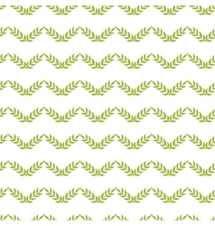 Green leaves chevron seamless pattern background vector
