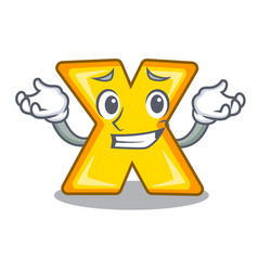 Grinning cartoon multiply of a delete sign vector