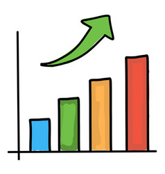 growth chart drawing vector image