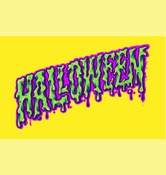 Halloween typeface trippy color vector