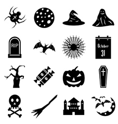 Haloween icons set simple style vector
