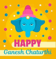 happy ganesh chaturthi background flat style vector image
