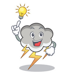 have an idea thunder cloud character cartoon vector image
